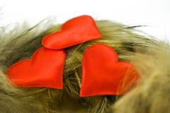 красный цвет 3 сердец Стоковое Фото