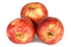 красный цвет 3 яблок стоковые изображения