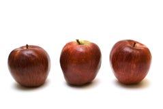 красный цвет 3 яблок Стоковая Фотография