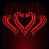 красный цвет 3 3 сердец Стоковое Изображение RF