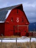 красный цвет 5 амбаров Стоковые Фото