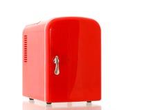 красный цвет 5 холодильников миниатюрный Стоковая Фотография