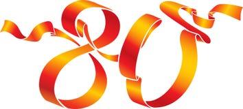 красный цвет 80 номеров Стоковые Изображения RF