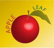 Красный цвет Apple Иллюстрация штока