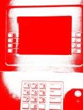 красный цвет atm Стоковое Фото