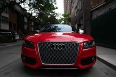Красный цвет Audi огня стоковое фото rf