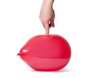 красный цвет ballon Стоковое Изображение