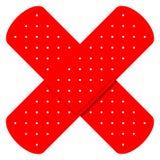 красный цвет bandaids перекрестный Стоковая Фотография