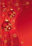 красный цвет bauble Стоковое Изображение