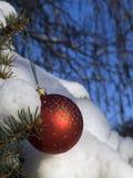 красный цвет bauble Стоковые Фото