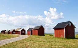 красный цвет boathouse Стоковые Изображения