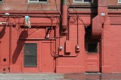 красный цвет brickwall Стоковые Фотографии RF