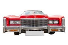 красный цвет cadillac изолированный автомобилем стоковое изображение