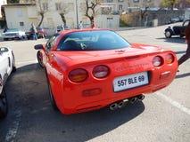 красный цвет chevrolet классический corvette автомобиля Стоковая Фотография RF