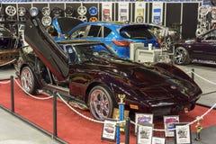 красный цвет chevrolet классический corvette автомобиля Стоковое Изображение RF