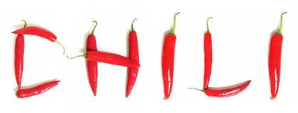красный цвет chili горячий Стоковые Изображения