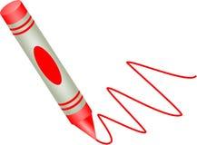 красный цвет crayon Стоковые Изображения RF