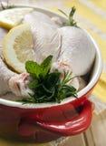 красный цвет crockpot цыпленка Стоковые Фотографии RF