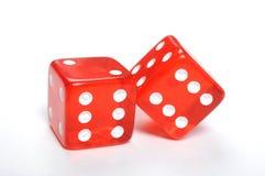 Красный цвет dices Стоковое фото RF