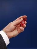 Красный цвет dices Стоковое Изображение RF