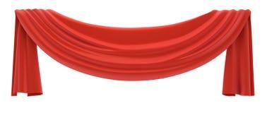 красный цвет drapery Стоковые Фотографии RF