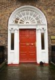 красный цвет dublin двери georgian Стоковые Фото