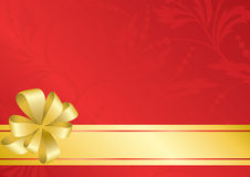 красный цвет eps карточки смычка золотистый Стоковая Фотография RF