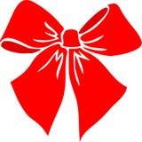 красный цвет eps смычка Стоковое Изображение