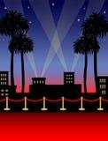 красный цвет eps hollywood ковра Стоковые Фото