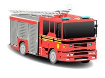 красный цвет firetruck пожара двигателя Стоковые Изображения RF