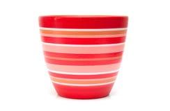 красный цвет flowerpot стоковые изображения
