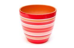 красный цвет flowerpot стоковая фотография rf