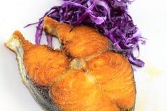 красный цвет fry рыб капусты Стоковое Фото