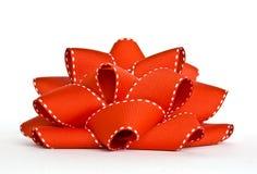 красный цвет grosgrain смычка Стоковое Фото