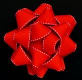 красный цвет grosgrain смычка Стоковое Изображение RF