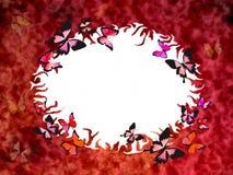 красный цвет grunge граници Стоковое Фото