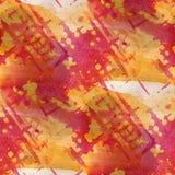 Красный цвет Grunge, желтый старый орнамент рисуя США Стоковая Фотография RF