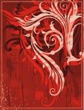 красный цвет grunge предпосылки Стоковое Изображение