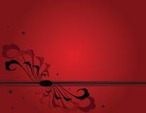 красный цвет grunge предпосылки Стоковые Изображения