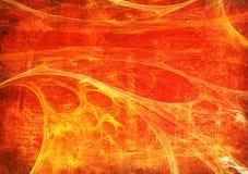 красный цвет grunge рамки Стоковое Фото