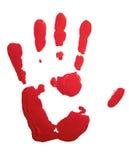 красный цвет handprint Стоковое фото RF