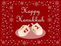 красный цвет hanukkah карточки счастливый Стоковые Изображения RF