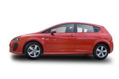 красный цвет hatchback Стоковое фото RF