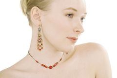 красный цвет jewelery стоковое изображение