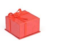 красный цвет jewellery коробки Стоковое Изображение RF