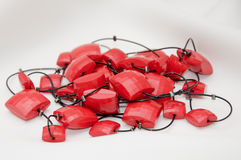 красный цвет jewellery Стоковое фото RF