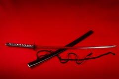 красный цвет katana Стоковое Изображение RF