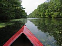 красный цвет kayak Стоковое фото RF
