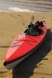 красный цвет kayak Стоковое Изображение