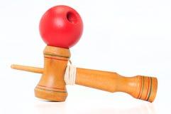 красный цвет kendama шарика Стоковая Фотография RF